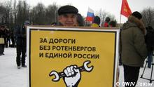 Russland St. Petersburg Protest LKW Fahrer