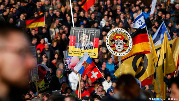 Pegida Demo in Dresden