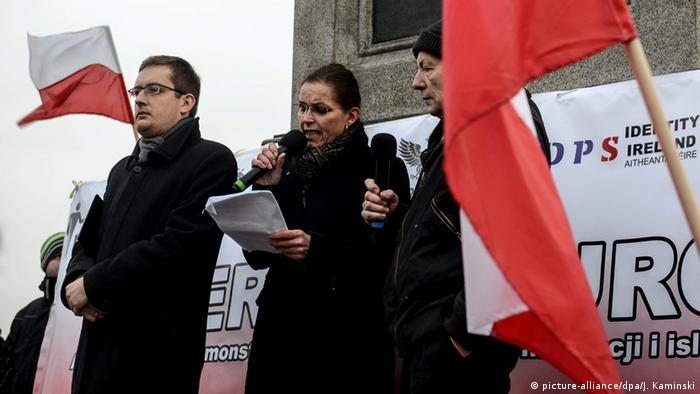 The right-wing populist movement Kukiz'15 demonstrates in Warsaw