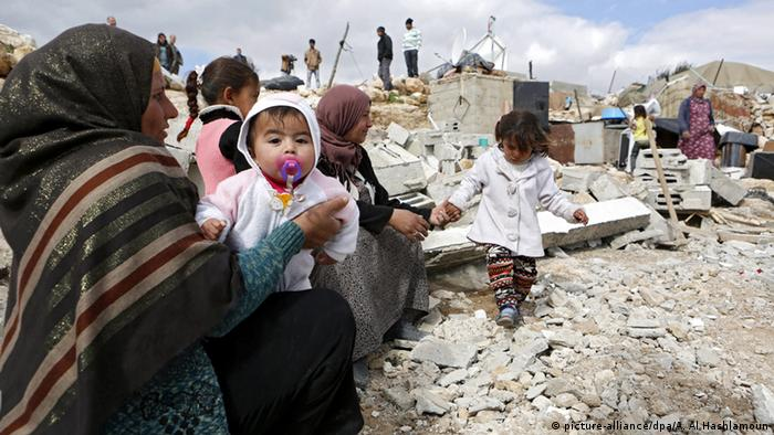 The EU said children made homeless by the demolitions are vulnerable