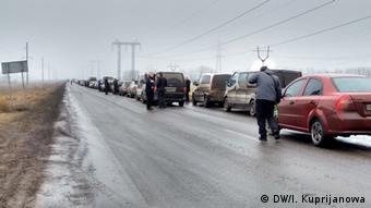 Kontrollpunkt Marjinka Ukraine