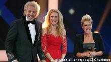 Thomas Gottschalk moderierte die Gala, neben ihm Michele Hunziker und Helene Fischer