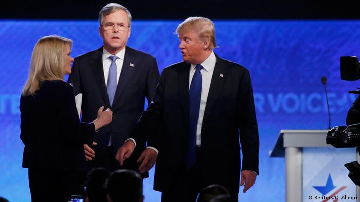 USA Wahlkampf TV Debatte New Hampshire Republikaner - Jeb Bush & Donald Trump
