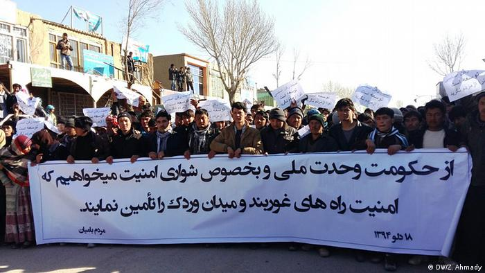 Demonstration in Bamiyan