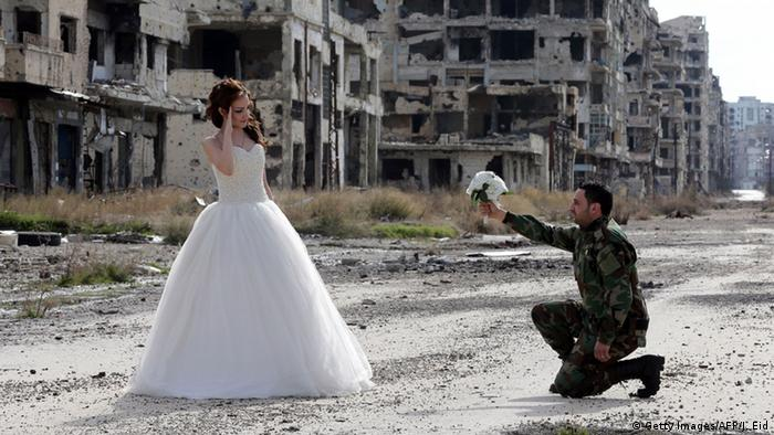 Wartime love or propaganda? Syria wedding photos not all they seem