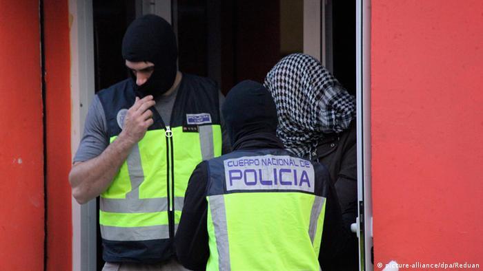 Polizei Terrorismus in Spanien
