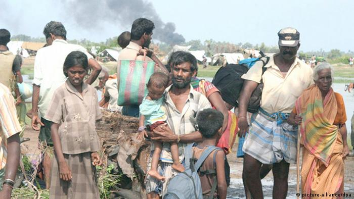 Many ethnically Tamil civilians were forcibly displaced by government forces