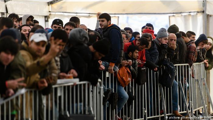 Deutschland Registrierung von Flüchtlingen
