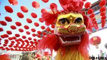 08.02.2016+++ Traditional dancers perform the lion dance during the opening ceremony of a temple fair in Ditan Park at the beginning of Chinese Lunar New Year in Beijing, China, February 8, 2016. REUTERS/Stringer ATTENTION EDITORS - THIS PICTURE WAS PROVIDED BY A THIRD PARTY. THIS PICTURE IS DISTRIBUTED EXACTLY AS RECEIVED BY REUTERS, AS A SERVICE TO CLIENTS. CHINA OUT. NO COMMERCIAL OR EDITORIAL SALES IN CHINA. +++ (C) Reuters
