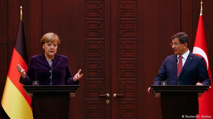 Türkei Ankara Treffen zur Flüchtlingskrise Merkel und Davutoglu