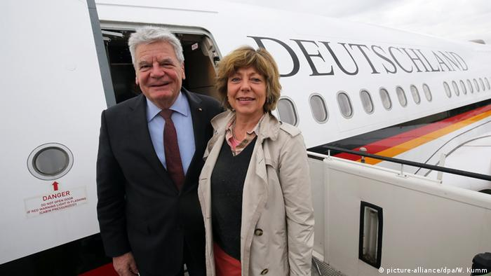 German President Gauck before flying to Nigeria