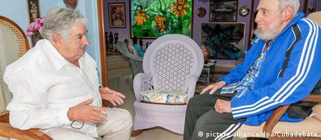 Kuba Jose Mujica und Fidel Castro