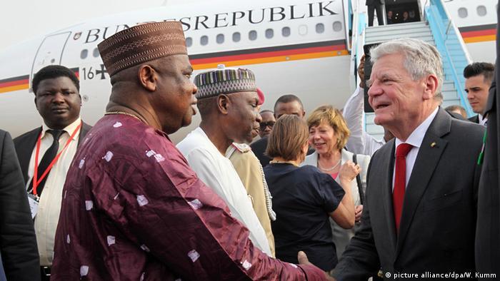 Nigeria Gauck auf Staatsbesuch