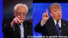 Le socialiste Bernie Sanders et le milliardaire Donald Trump