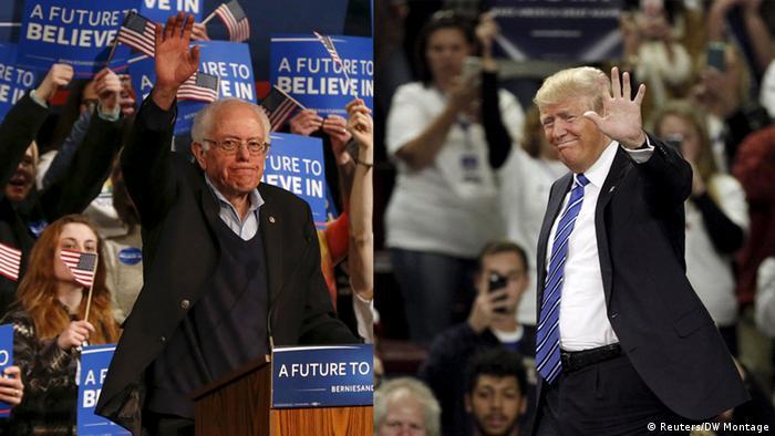 USA Bernie Sanders Donald Trump Kombo