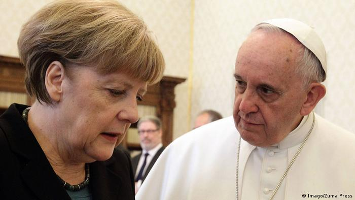 Angela Merkel and Pope Francis