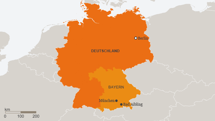 Karte Bad Aibling Deutsch (Grafik: DW)