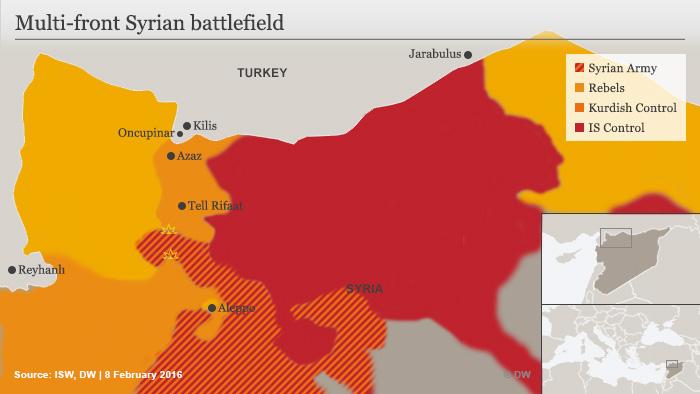 Infografik Syrienkrieg Februar 2016