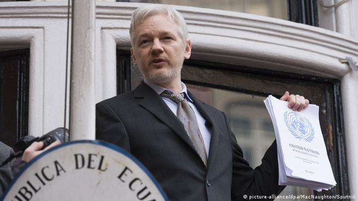 England Julian Assange (picture-alliance/dpa/MacNaughton/Sputnik)