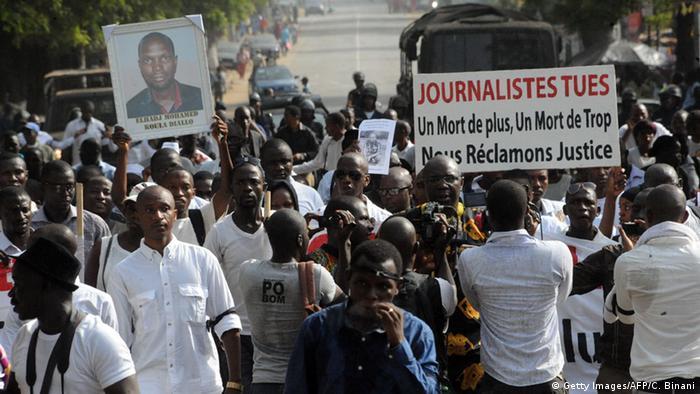 Guinea Protest der Journalisten