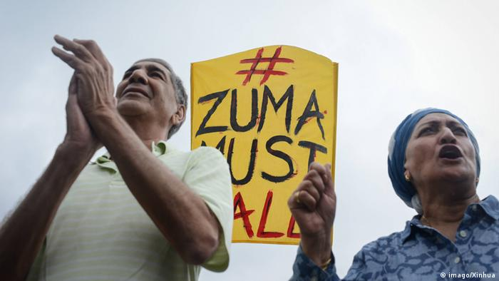 Protestors calling on President Zuma to step down