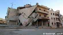 Schwere Zerstörungen nach Luftangriffen im Raum Aleppo