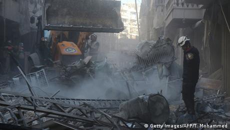 Syrien Aleppo Zerstörung nach Luftangriffen