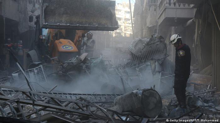 Удары с воздуха по целям в Алеппо
