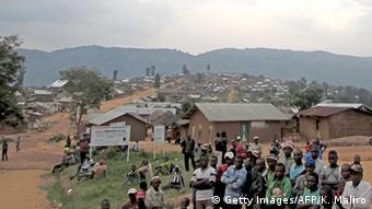 DR Kongo Bevölkerung in Goma nach den Angriff der Hutu Rebellen