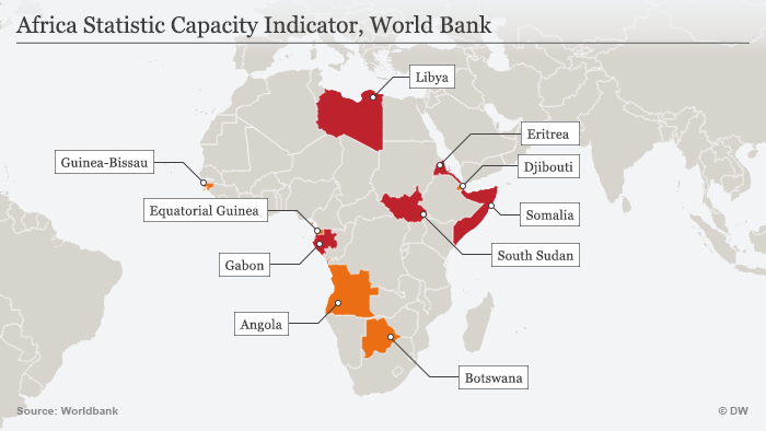 10 african countries about which we know little africa dw infografik afrika statistic capacity index world bank gumiabroncs Choice Image