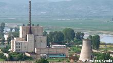 ARCHIV 2008 **** A North Korean nuclear plant is seen before demolishing a cooling tower (R) in Yongbyon, in this photo taken June 27, 2008 and released by Kyodo. Recent satellite images have shown suspicious activity at North Korea's main nuclear site at Yongbyon, which could mean reprocessing is under way to produce more plutonium for atomic bombs, a report published by a U.S. research institute said on April 4, 2016. Mandatory Credit. REUTERS/Kyodo/Files FOR EDITORIAL USE ONLY. NOT FOR SALE FOR MARKETING OR ADVERTISING CAMPAIGNS. MANDATORY CREDIT. JAPAN OUT. NO COMMERCIAL OR EDITORIAL SALES IN JAPAN. ATTENTION EDITORS - THIS IMAGE WAS PROVIDED BY A THIRD PARTY. THIS PICTURE IS DISTRIBUTED EXACTLY AS RECEIVED BY REUTERS, AS A SERVICE TO CLIENTS. YES © Reuters/Kyodo