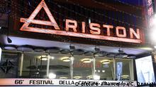 San Remo Italien Song Festival Ariston Theater