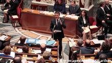Premierminister Manuel Valls in der Nationalversammlung