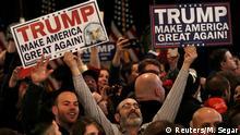 USA Vorwahlen New Hampshire Trump Anhänger