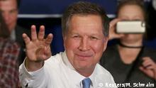 Siegerpose in New Hampshire: John Kasich