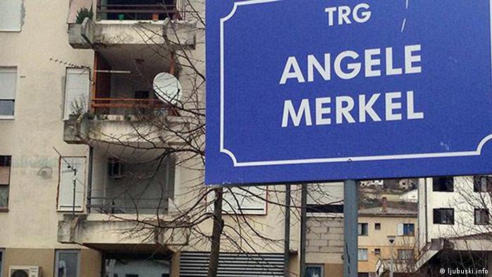 Bosnien Herzegowina Aschermittwoch in Ljubuski Platz Angela Merkel (ljubuski.info)