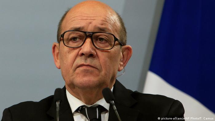 French Foreign Minister Jean Yves Le Drian
