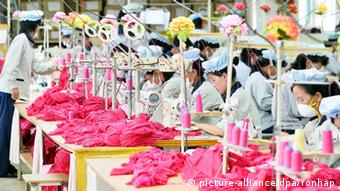 Nordkorea Textilfabrik in Kaesong