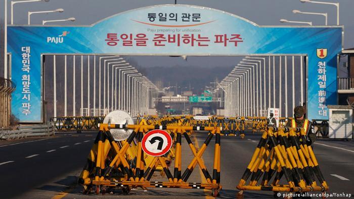 Südkorea gesperrte Zufahrt Grenze Nordkorea Kaesong