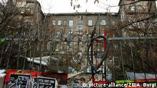 Das Berliner Wohn- und Kulturzentrum Köpi, aufgenommen am 15.01.2007. Seit über 17 Jahren bietet die Köpi Platz für unkommerzielle Kultur, Wohnen und Politik ± als eine der letzten großen Räume im schicken Bezirk Mitte. Foto: Arno Burgi +++(c) dpa - Report+++