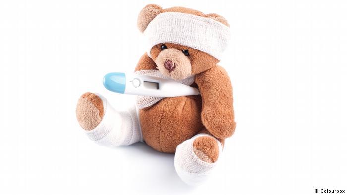 Symbolbild kranker Teddybär (Colourbox)