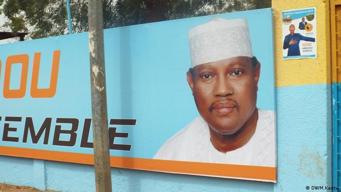 Wahlplakat für Hama Amadou Niger