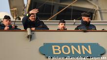 """Deutsches Marineschiff """"Bonn"""" soll den Einsatz der NATO leiten"""