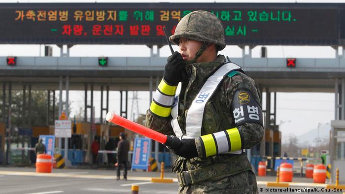 Südkorea Polizist