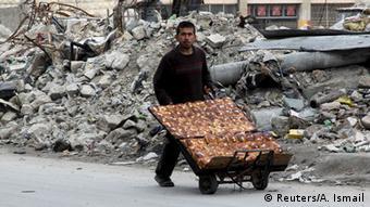 Уличный продавец в Алеппо