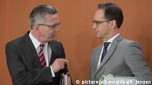 Thomas de Maiziere (links) und Heiko Maas (Archivbild)