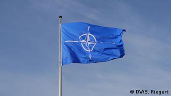 NATO-Flagge (Foto: DW/B. Riegert)