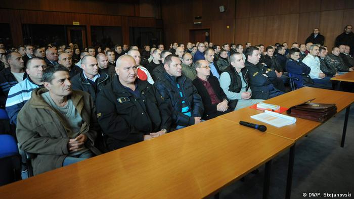 Mazedonien Gerichtsprozess im Obersten Gerichtshof zur Kumanovo Razzia (DW/P. Stojanovski)