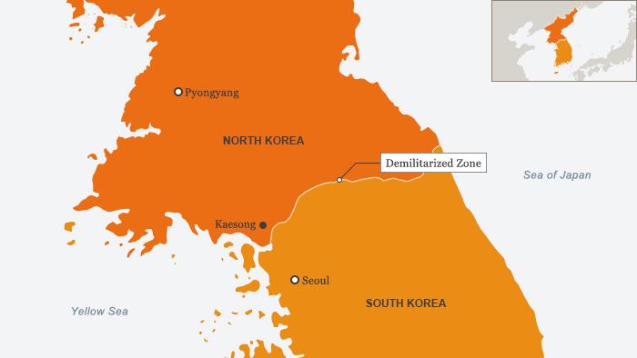 Infografik Nord Korea Süd Korea Kaesong Englisch