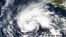 NASA Aufnahme Tropensturm Sandra